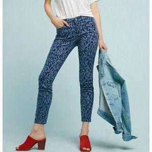 Blue leopard Skinny jeans
